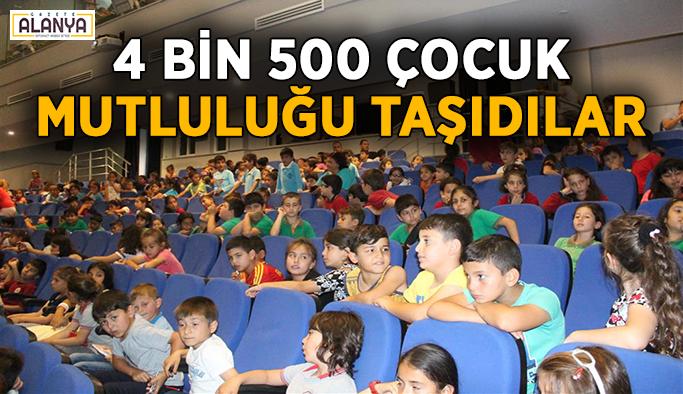 4 bin 500 çocuk mutluluğu sokağa taşıdı