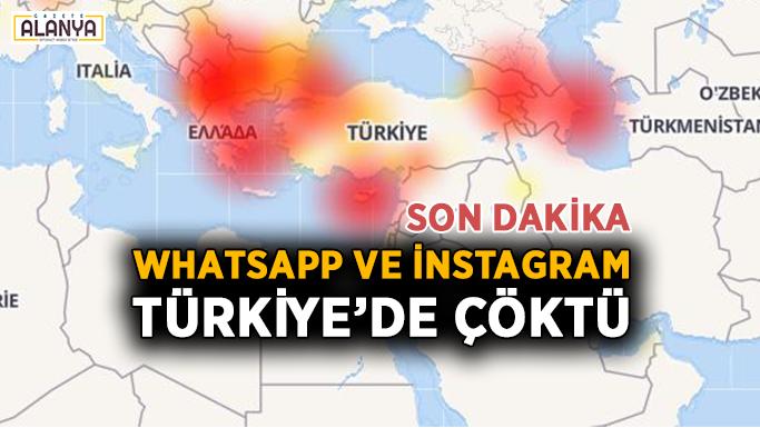 Son Dakika ! Whatsapp ve İnstagram çöktü !