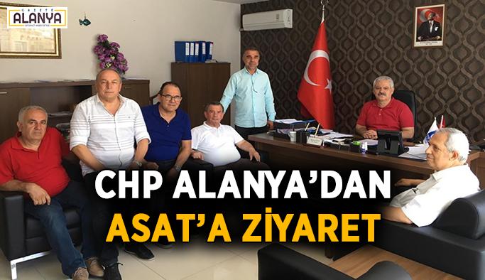 Alanya CHP'den ASAT'a ziyaret