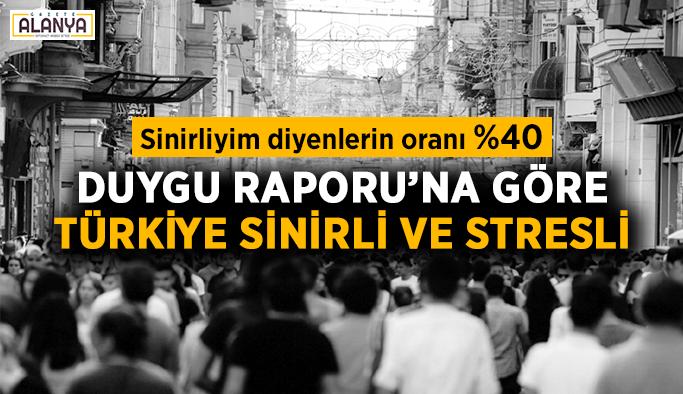 Duygu Raporu'na göre Türkiye sinirli ve stresli