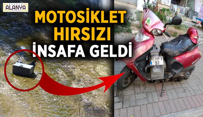Alanya'daki motosiklet hırsızları insafa geldi!
