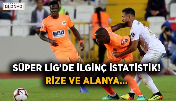 Süper Lig'de ilginç istatistik! Rize ve Alanya...