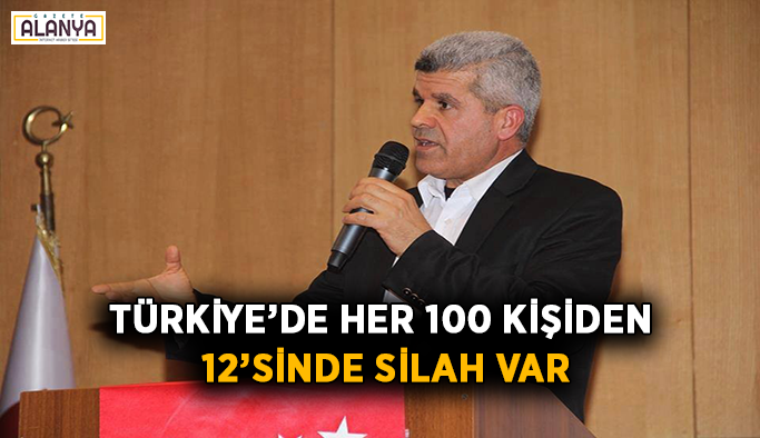 Türkiye'de her 100 kişiden 12'sinde silah var