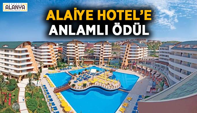 Alaiye Hotel'e anlamlı ödül