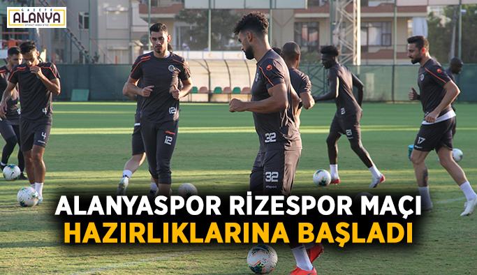 Alanyaspor, Rizespor maçı hazırlıklarına başladı