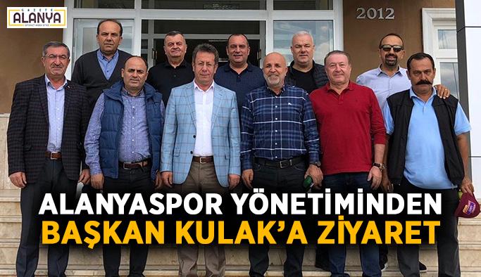 Alanyaspor yönetiminden Başkan Kulak'a ziyaret
