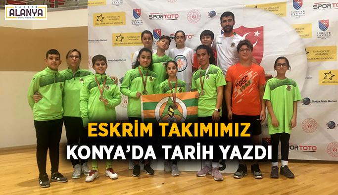 Eskrim takımımız Konya'da tarih yazdı