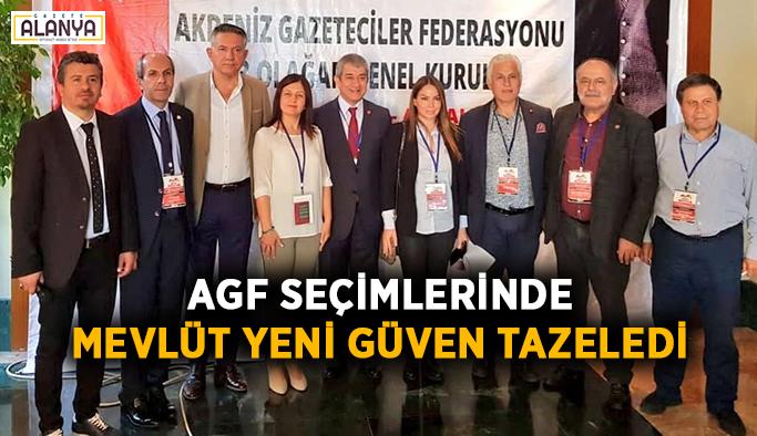 AGF seçimlerinde Mevlüt Yeni güven tazeledi
