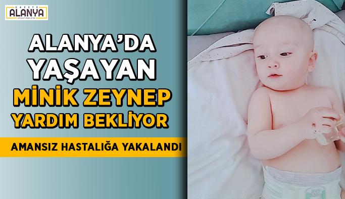 Alanya'da yaşayan minik Zeynep yardım bekliyor! Amansız hastalık…