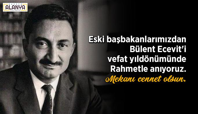 Bülent Ecevit, ölüm yıl dönümünde anılıyor