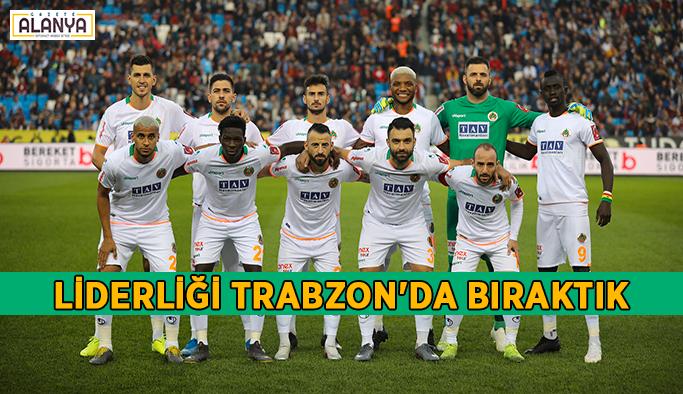Liderliği Trabzon'da bıraktık