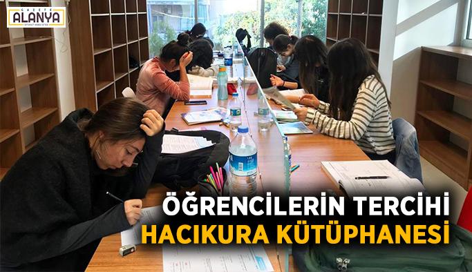 Öğrencilerin tercihi Hacıkura Kütüphanesi