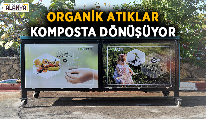 Organik atıklar komposta dönüşüyor