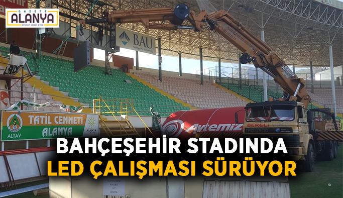 Bahçeşehir Okulları stadında LED çalışması sürüyor