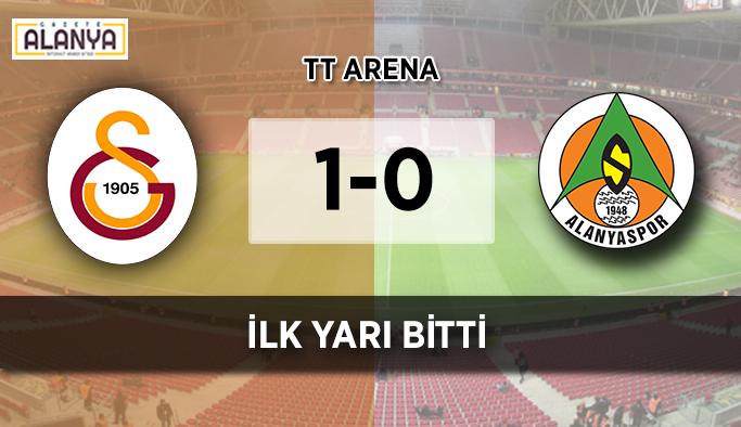 İLK YARI BİTTİ' Galatasaray - Alanyaspor: 1-0