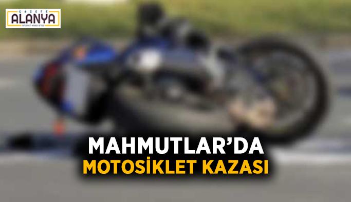 Mahmutlar'da motosiklet kazası