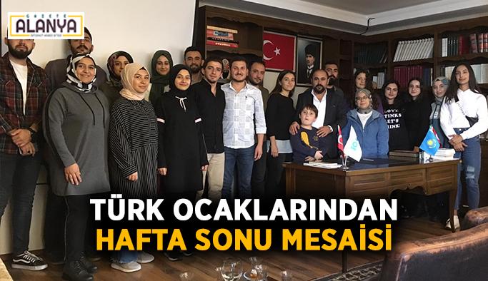 Türk Ocaklarından hafta sonu mesaisi