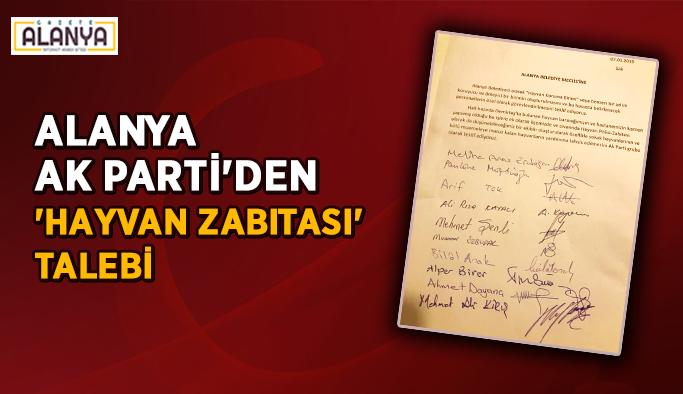 AK Parti Alanya'dan 'hayvan zabıtası' talebi