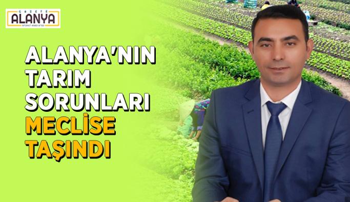 Alanya'nın tarım sorunları meclise taşındı