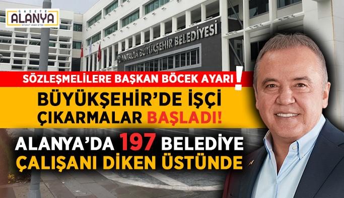 Alanya'da 197 Belediye çalışanı diken üstünde! Sözleşmeli personele Başkan Böcek ayarı