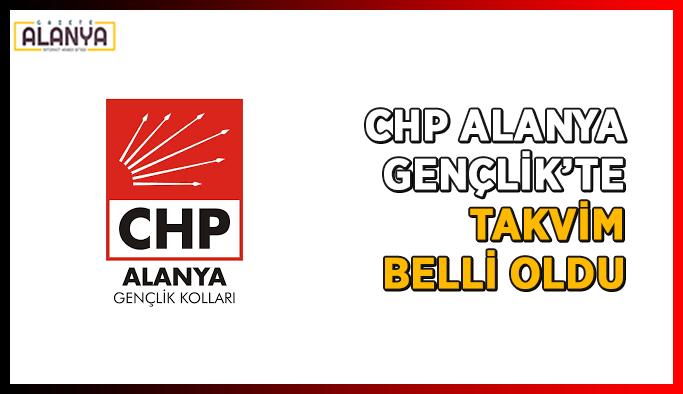 CHP Alanya Gençlik'te takvim belli oldu