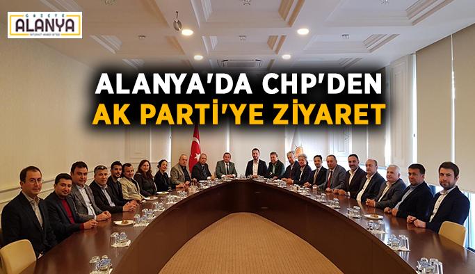 Alanya'da CHP'den Ak Parti'ye ziyaret