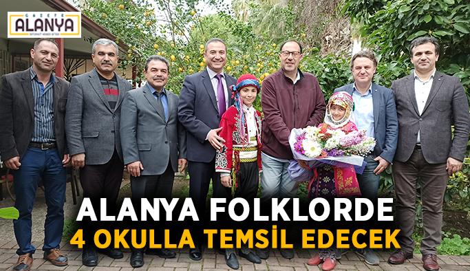 Alanya folklorde 4 okulla temsil edecek