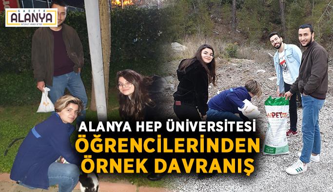 Alanya HEP Üniversitesi öğrencilerinden örnek davranış