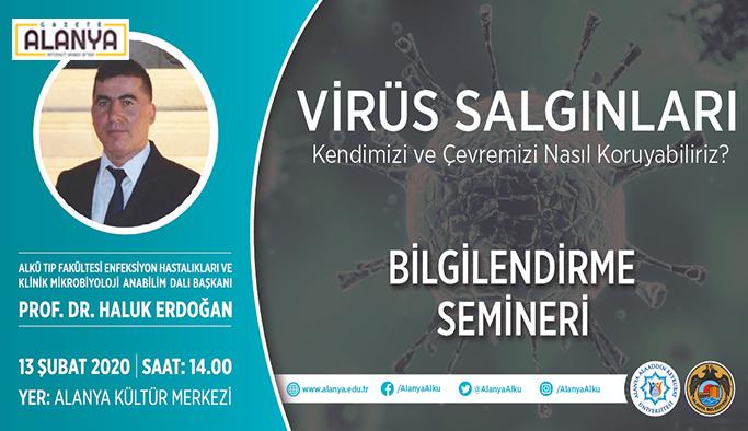 Alanya'da 'Virüs' konferansı düzenlenecek