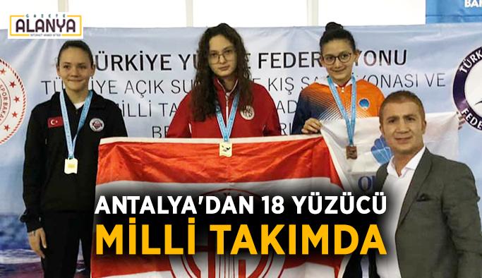 Antalya'dan 18 yüzücü milli takımda