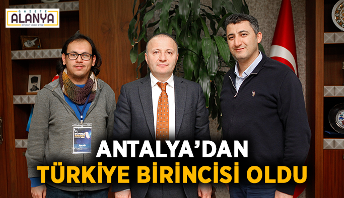 Antalya'dan Türkiye birincisi oldu
