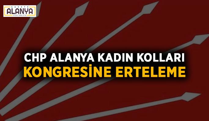 CHP Alanya Kadın Kolları kongresine erteleme