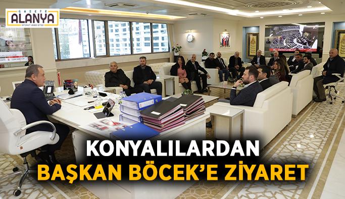 Konyalılardan Başkan Böcek'e ziyaret