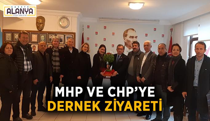 MHP ve CHP'ye dernek ziyareti