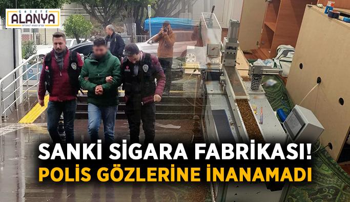 Sigara fabrikasına çevrilen eve polis baskını