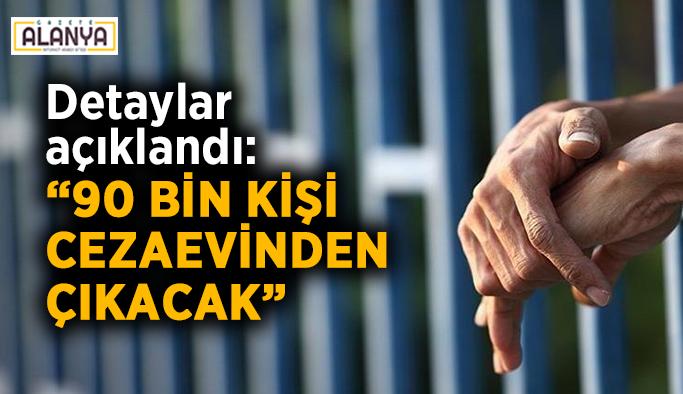 """Detaylar açıklandı: """"90 bin kişi cezaevinden çıkacak"""""""