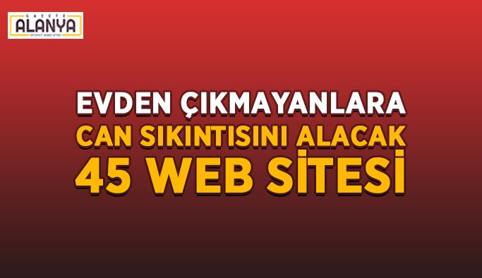 Evde canı sıkılanlara vakit geçirilecek 45 web sitesi