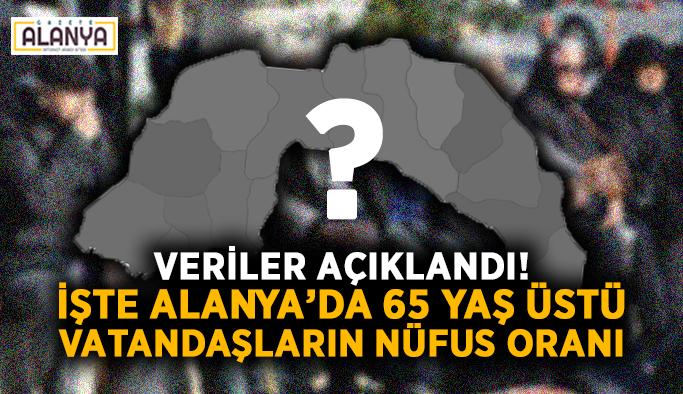 Veriler açıklandı! İşte Alanya'da 65 yaş üstü vatandaşların nüfus oranı