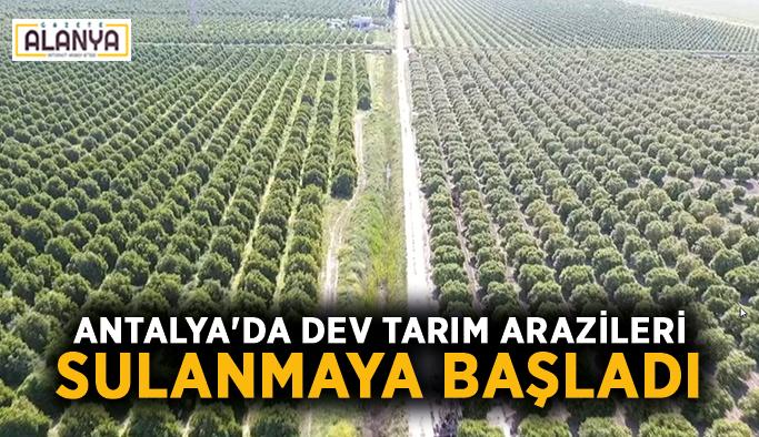 Antalya'da dev tarım arazileri sulanmaya başladı
