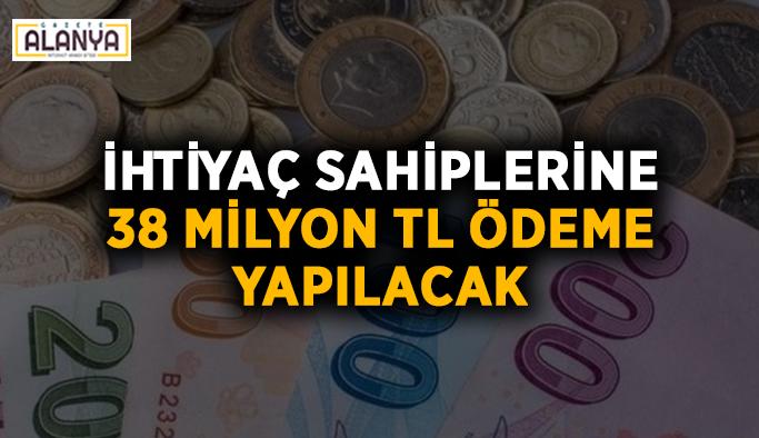 Antalya'da ihtiyaç sahiplerine 38 milyon TL ödeme yapılacak