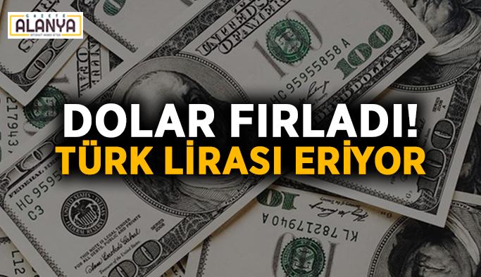 Dolar fırladı! Türk lirası eriyor