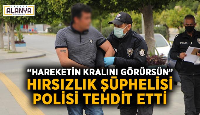 """Hırsızlık şüphelisi polisi tehdit etti: """"Hareketin kralını görürsün"""""""