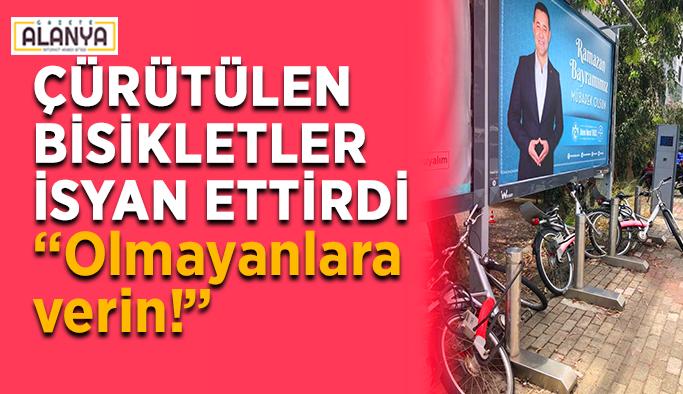 """Alanya'da çürütülen bisiklet isyanı: """"Olmayanlara verin!"""""""
