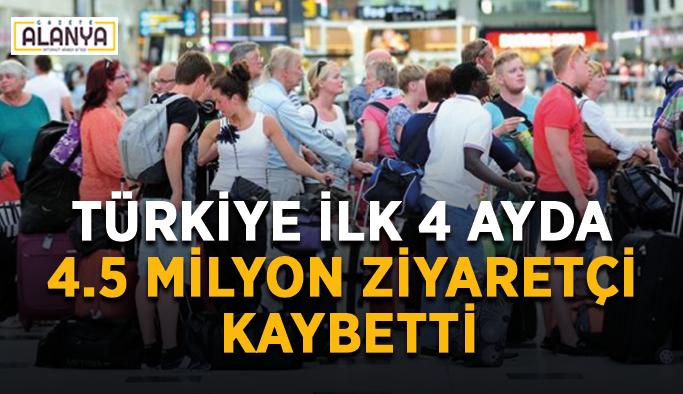 Türkiye ilk 4 ayda 4.5 milyon ziyaretçi kaybetti