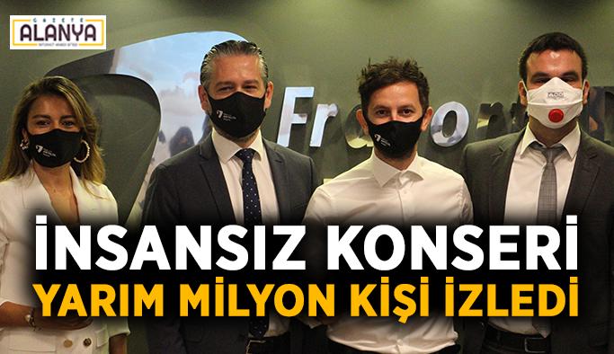 Antalya'da ki insansız konseri yarım milyon kişi izledi