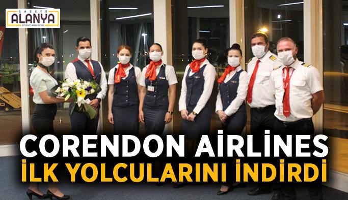 Corendon Airlines sezonun ilk yolcularını indirdi