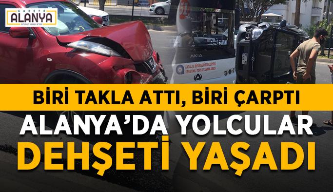 SON DAKİKA! Alanya'da halk otobüsündeki yolcular dehşeti yaşadı