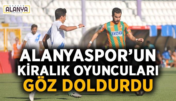 Alanyaspor'un kiralık oyuncuları göz doldurdu