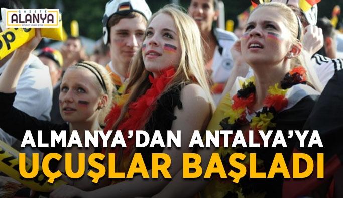 Almanya'dan Antalya'ya uçuşlar başladı