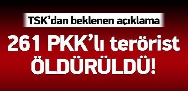 261 PKK ÖLDÜRÜLDÜ